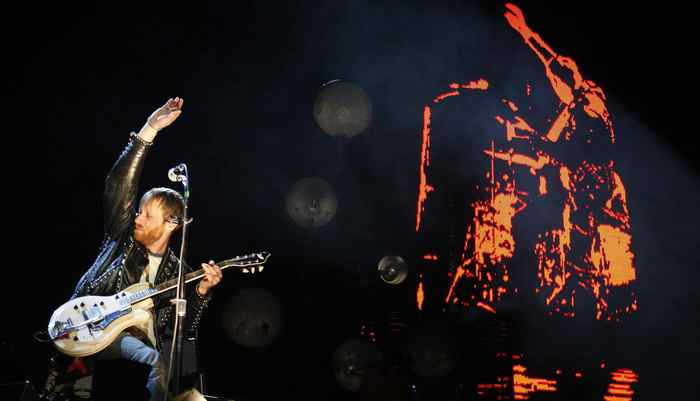 Dan Auerbach of the Black Keys performs at the Coachella Valley Music and Arts Festival in Indio, California.
