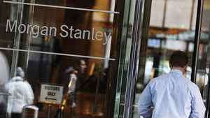 A man walks into the Morgan Stanley offices in New York January 18, 2012.