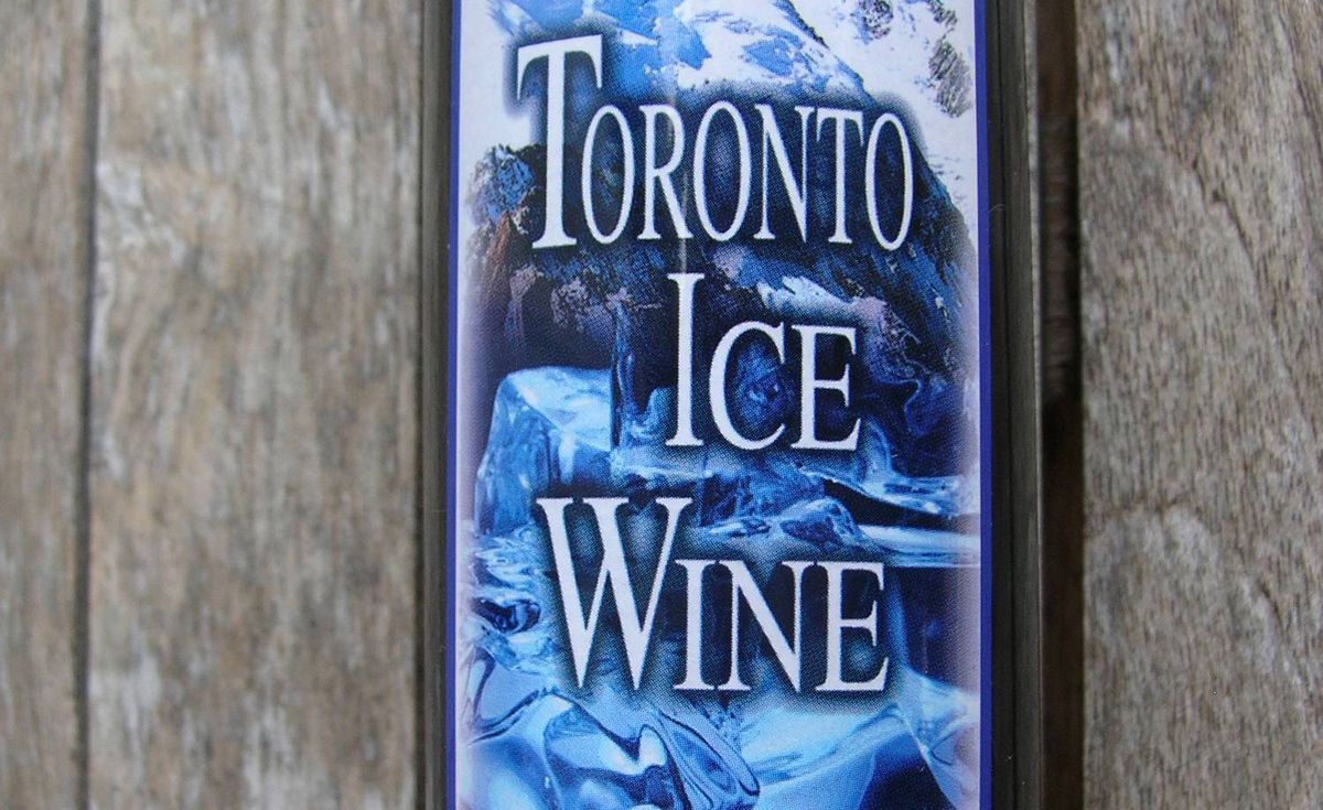 A bottle of supposed Toronto ice wine
