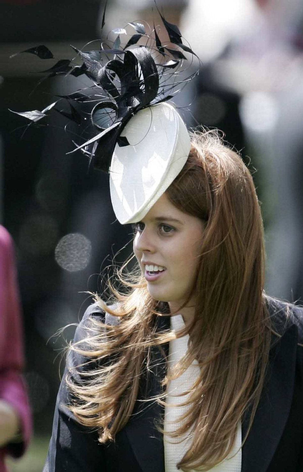 Princess Beatrice talks to her father Prince Andrew in the Parade ring on the first day of the Royal Ascot in Ascot, England, Tuesday June, 17, 2008.