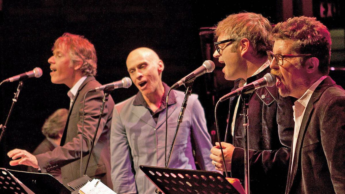 From left, Craig Northey, John Mann, Steven Page, Andy Maize.