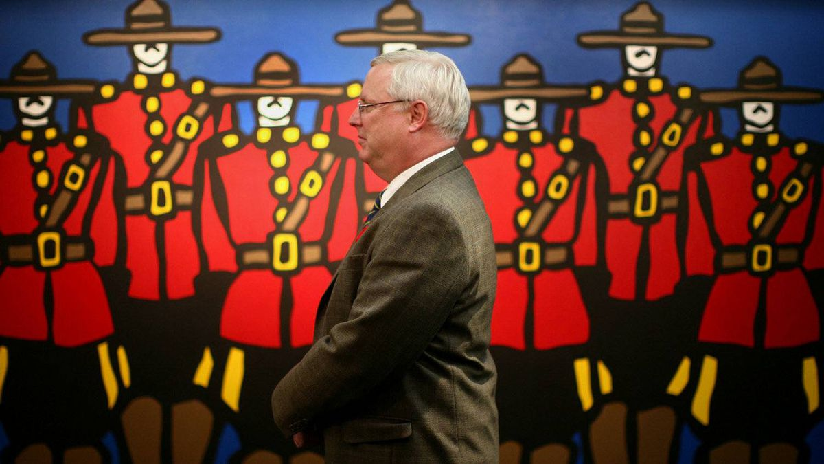 RCMP Commissioner William Elliott photograph during an interview at RCMP Headquarter in Ottawa, November 04, 2010.