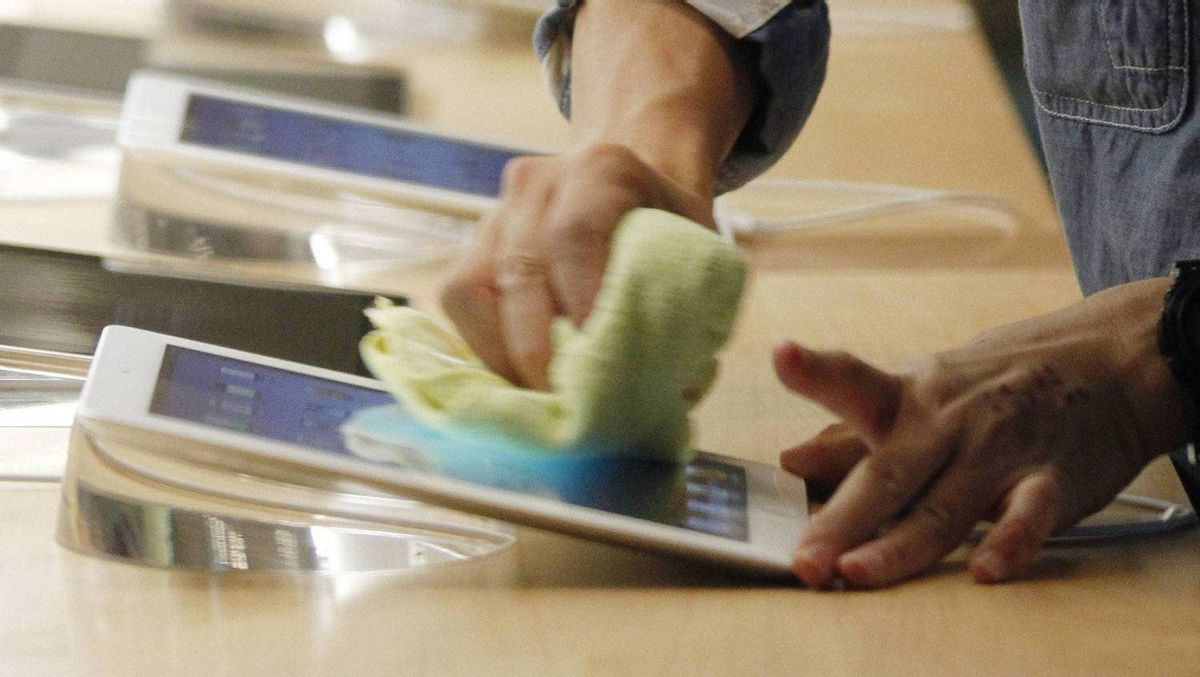 Qualcomm was boosted by the sales of its computer chips, which are used in Apple's new iPad.