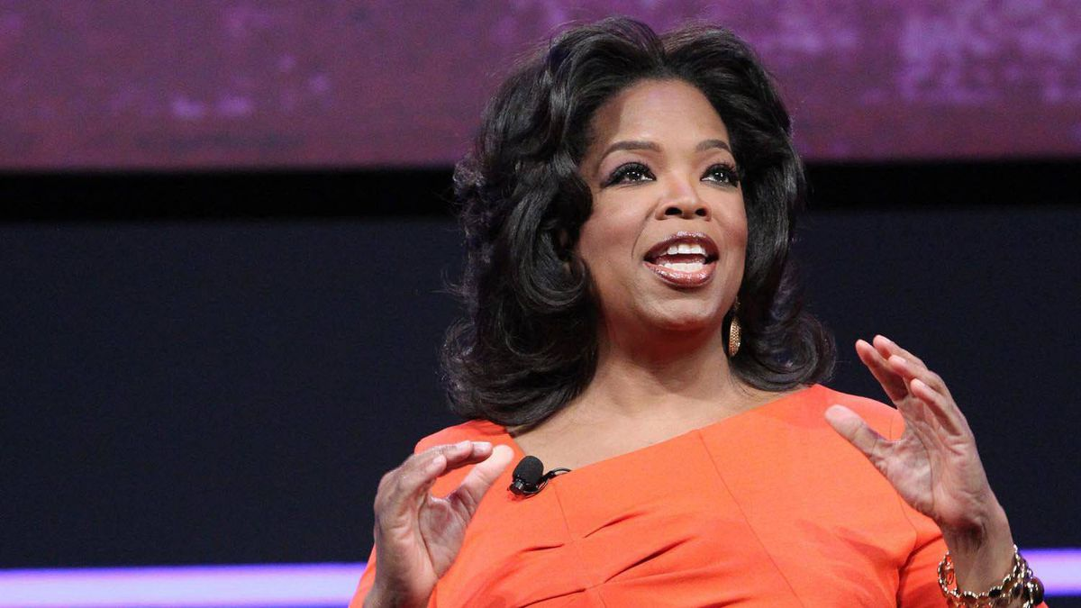 Oprah Winfrey talks about her cable network in New York, April 14, 2011.