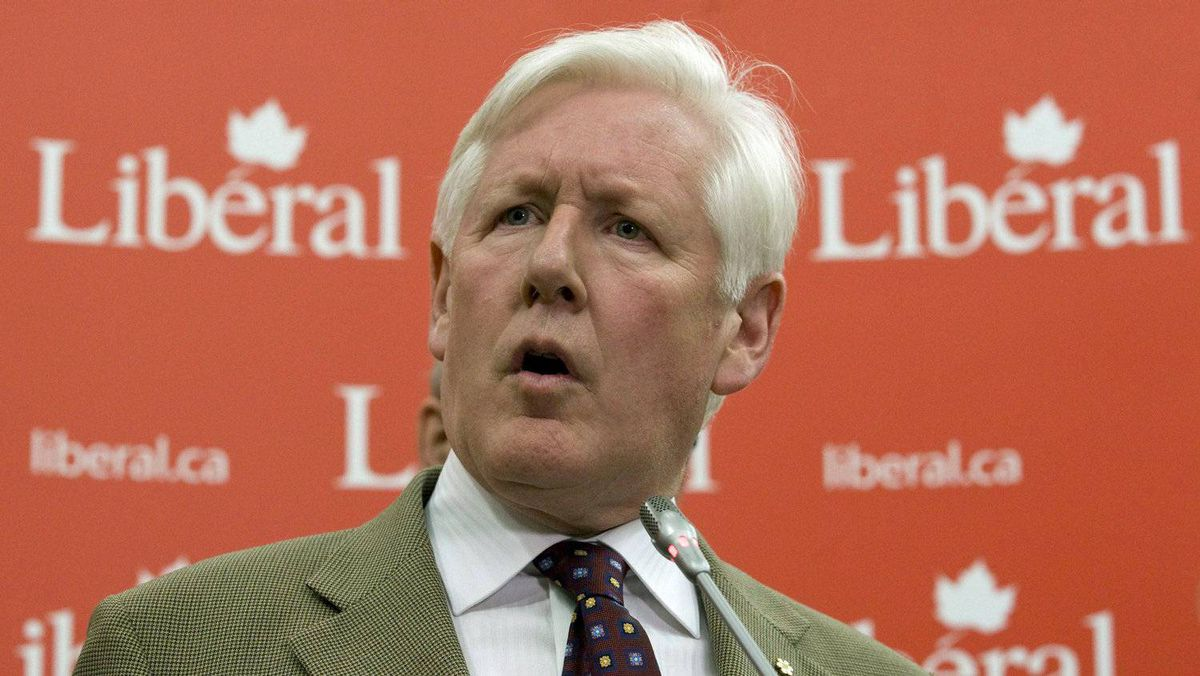 Interim Liberal Leader Bob Rae speaks to the reporters in Ottawa on May 25, 2011.