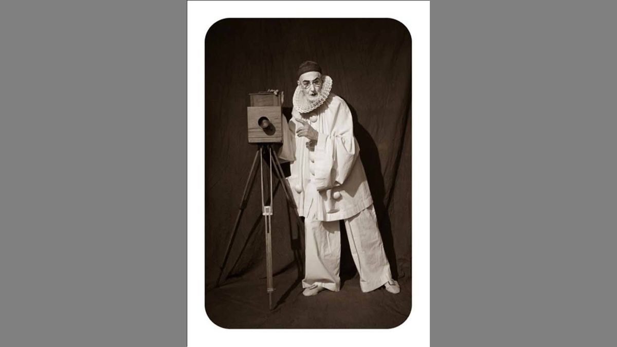 """After Nadar – Pierrot the Photographer"" (2012) by Arnaud Maggs"