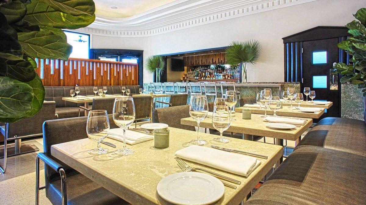 The Tudor House restaurant in Dream South Beach hotel, Miami.