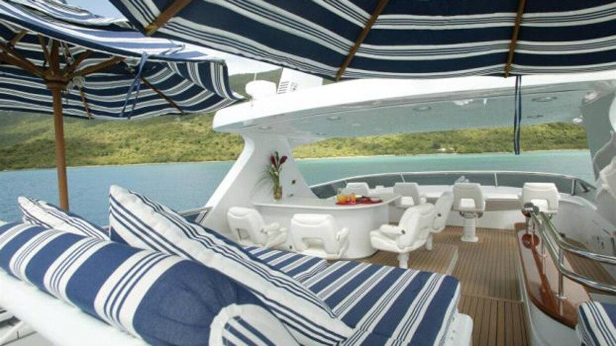On Antonio Accurso's luxury yacht, the Touch.