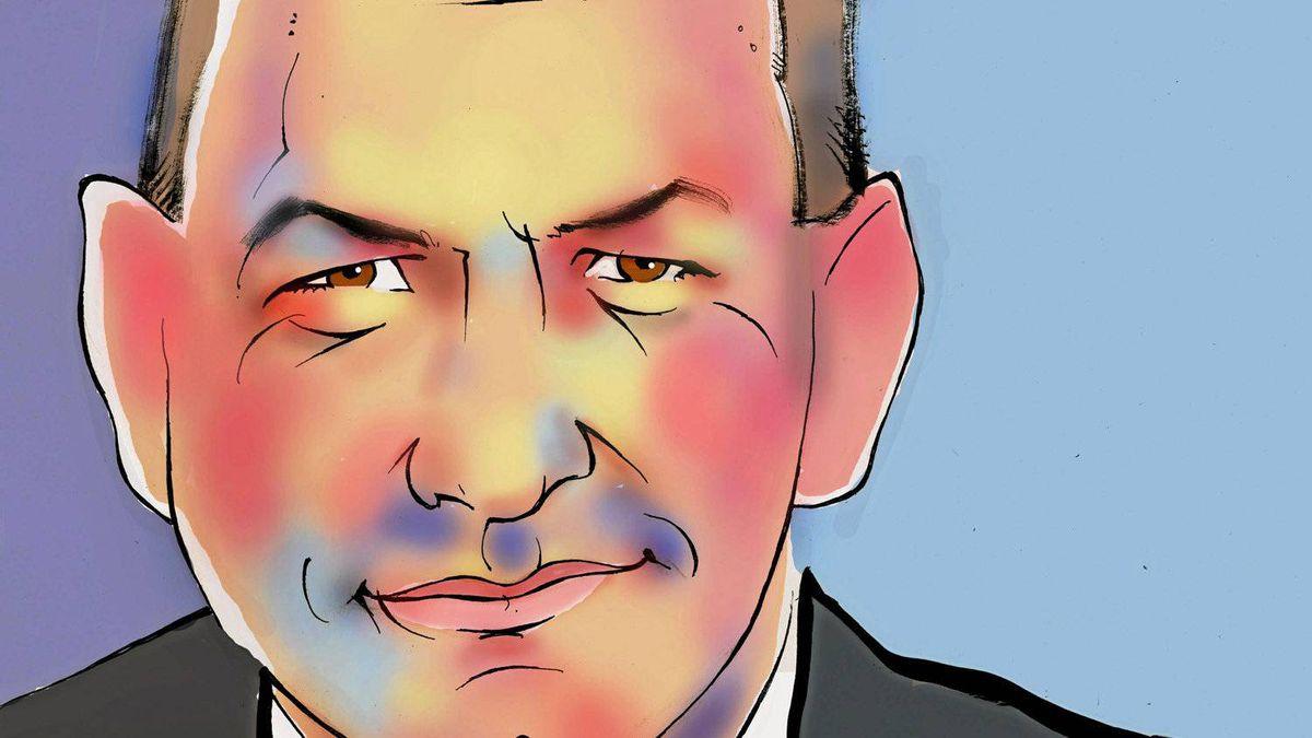 Illustration of Chet Fuller, Bombardier's senior vice-president of sales, marketing and asset management.