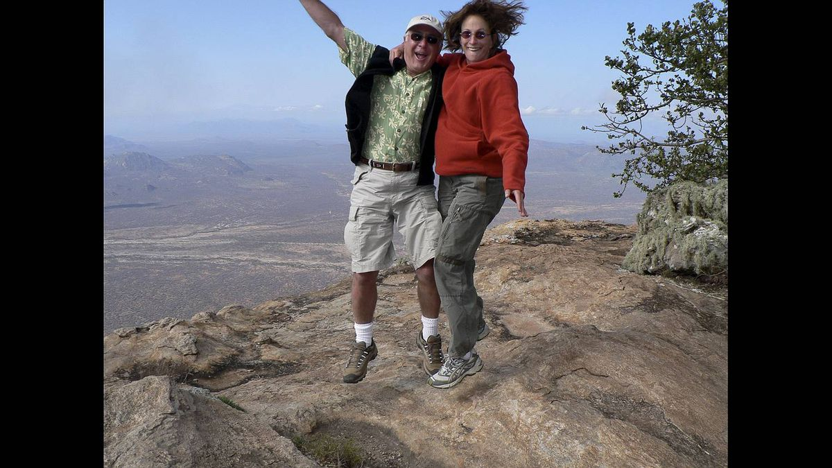 Ann Jones photo: Jump for Joy - In Africa on the top of the Sacred Mountain in Kenya..............reaching high for love.