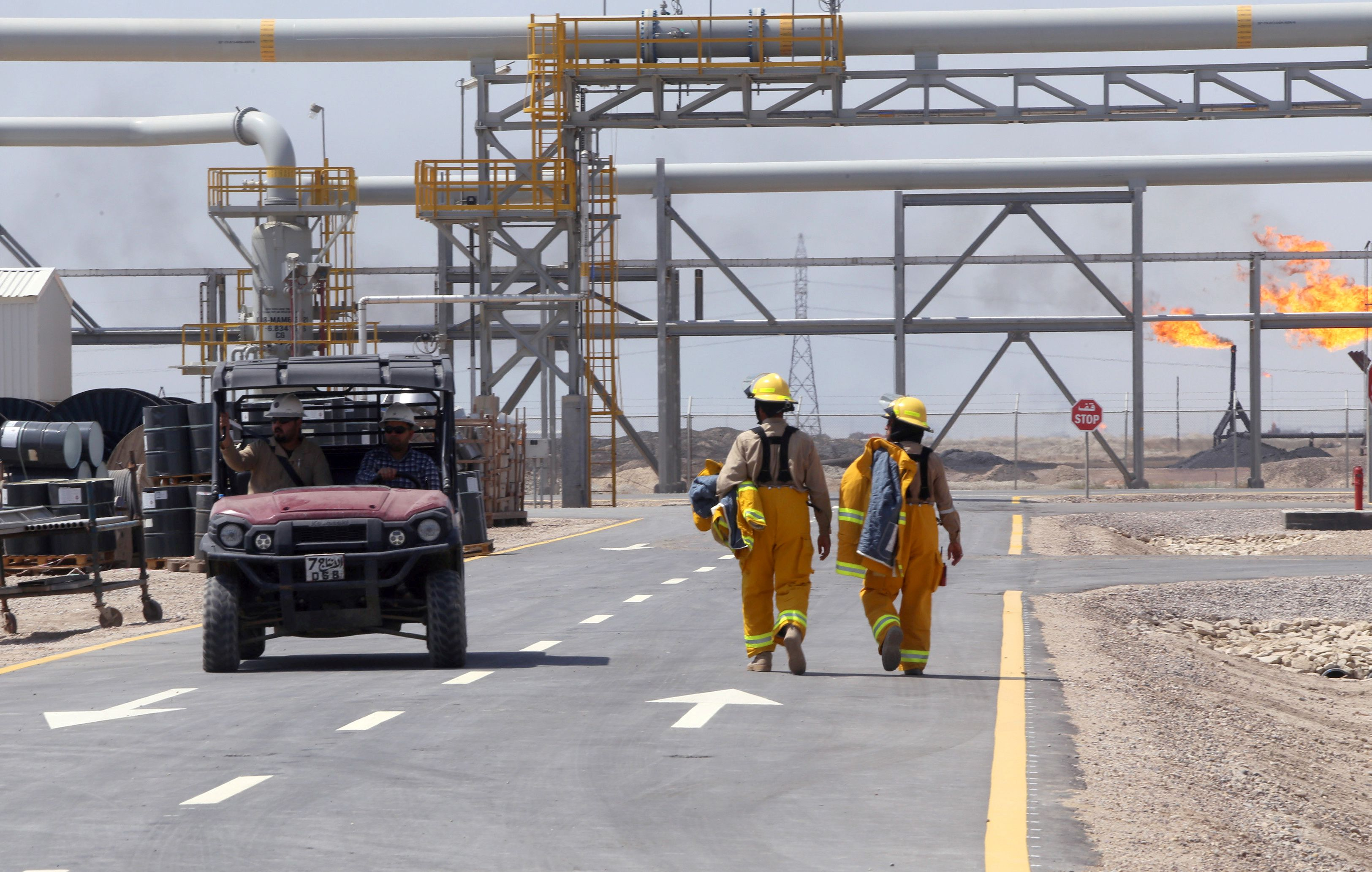 Foreign oil firms site in Basra, Iraq hit by rocket, two Iraqi workers reported injured