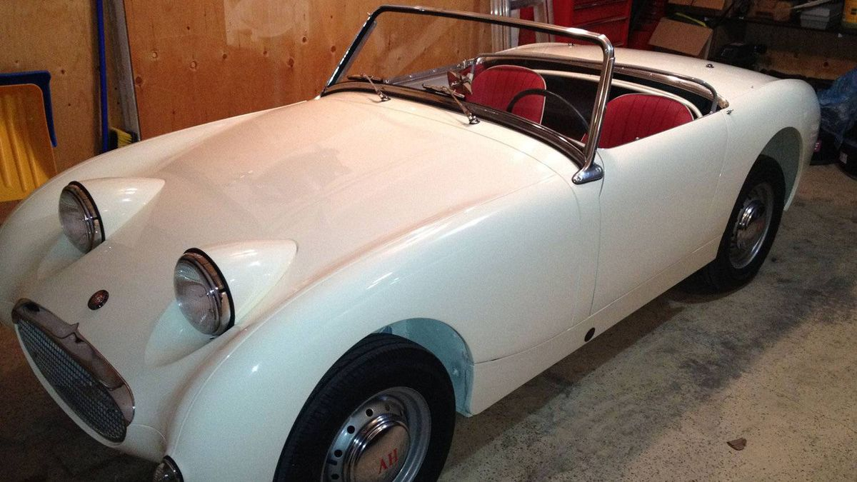 Austin Healey Bugeye Sprite. The Sprite is one of the most beloved cars of all time. Its small size and open top made it feel fast. It wasn't.