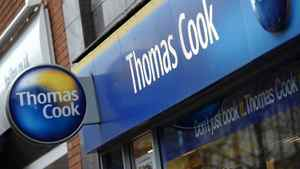 Shares in Thomas Cook crashed 67 per cent on Tuesday as the British travel firm said it was renegotiating debts and delaying annual results after a sharp deterioration in business. Thomas Cook's share price slumped to 13.48 pence in midday trade on London's second-tier FTSE 250 shares index.