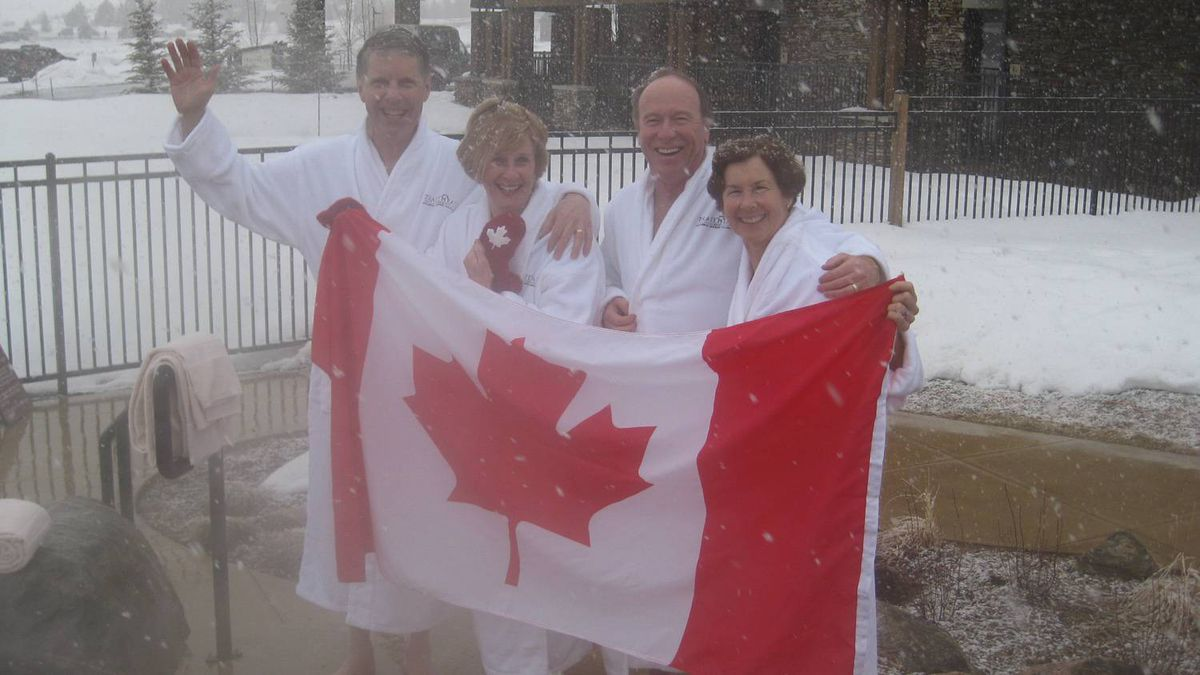 Stephen Hall sent us this photo of vacationing Canadians celebrating the game and the goal in the hot tub at Steamboat Colorado