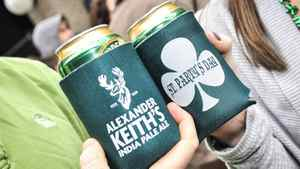 Keith's and St. Party's Day beer cozies.