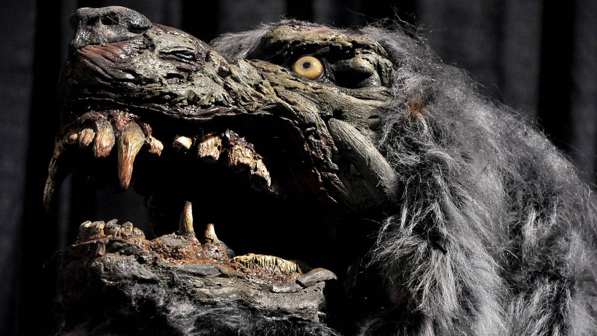 The head of an animatronic wolf prop at Screemers. The animatronic props are the most expensive part of Screemers, says general manager Andrew Gidaro. They are remotely controlled. The wolf cost between $5,000 and $7,000.