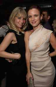 """TORONTO, ON - SEPTEMBER 12: Actresses Ari Gaynor and Juliette Lewis attends the """"Weinstein Party Including Butter Cast"""" hosted by GREY GOOSE Vodka at Soho House Pop Up Club during the 2011 Toronto International Film Festival on September 12, 2011 in Toronto, Canada."""