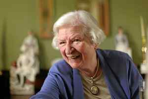 British author P.D. James in her London home.