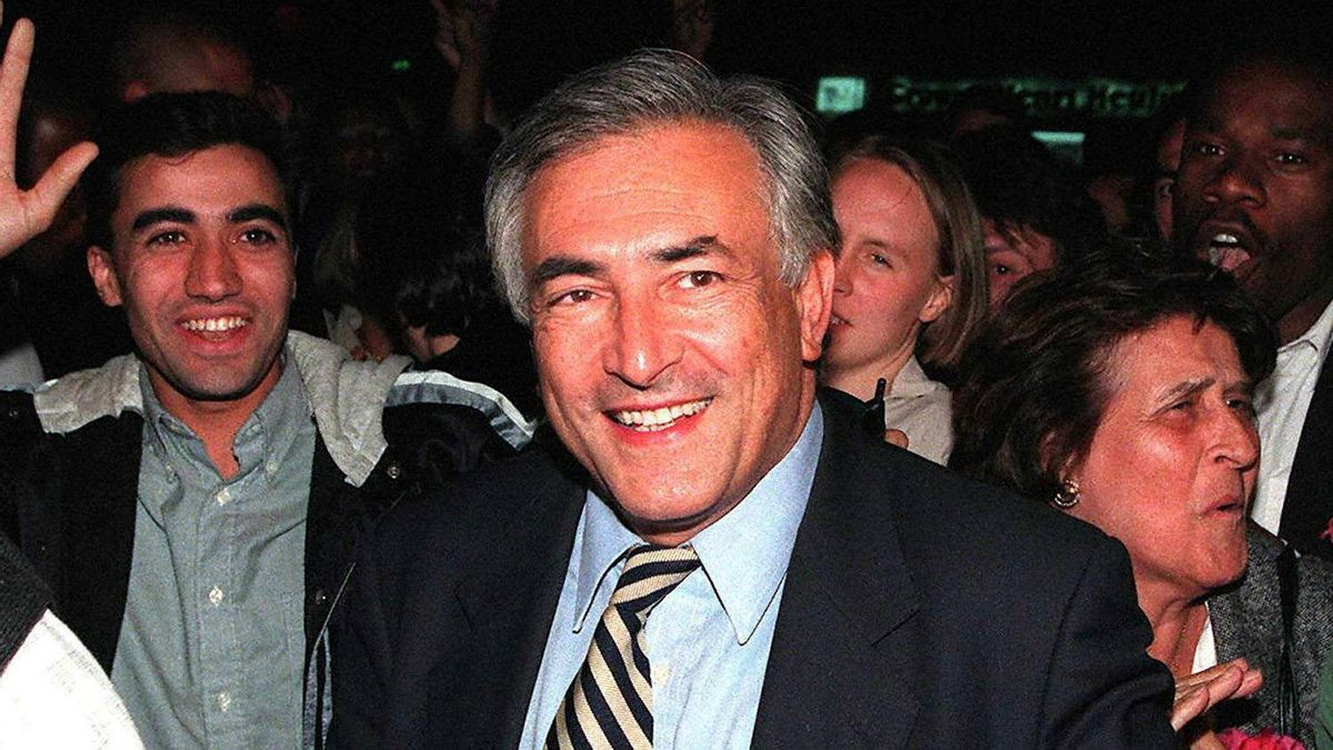 A photo dated June 2, 1997, in Paris, shows former French Finance Minister Dominique Strauss-Kahn. Strauss-Kahn looked set for an early return to frontline politics as the charges against him in a forgery trial in Paris fell to pieces October 10, 2001. Strauss-Kahn is being tried for allegedly back-dating bills for some 600,000 francs (91,470 euros) (USD 83,613) which will be paid by the students' insurance fund MNEF.
