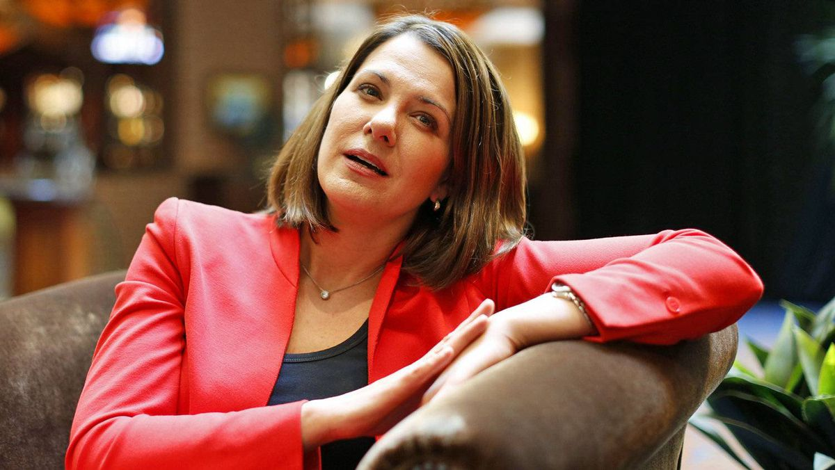 Wildrose Leader Danielle Smith gives a post-election interview in Calgary on April 24, 2012.