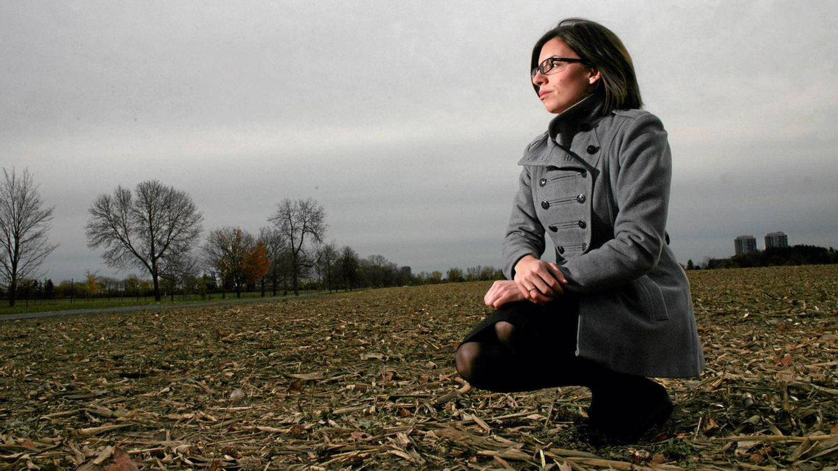 October 27, 2011: NDP MP Niki Ashton poses for a photograph at a farm in Ottawa.