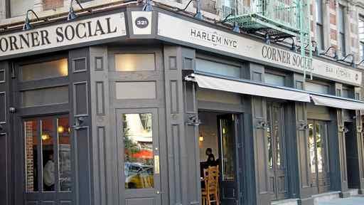 Corner Social in Harlem, New York.
