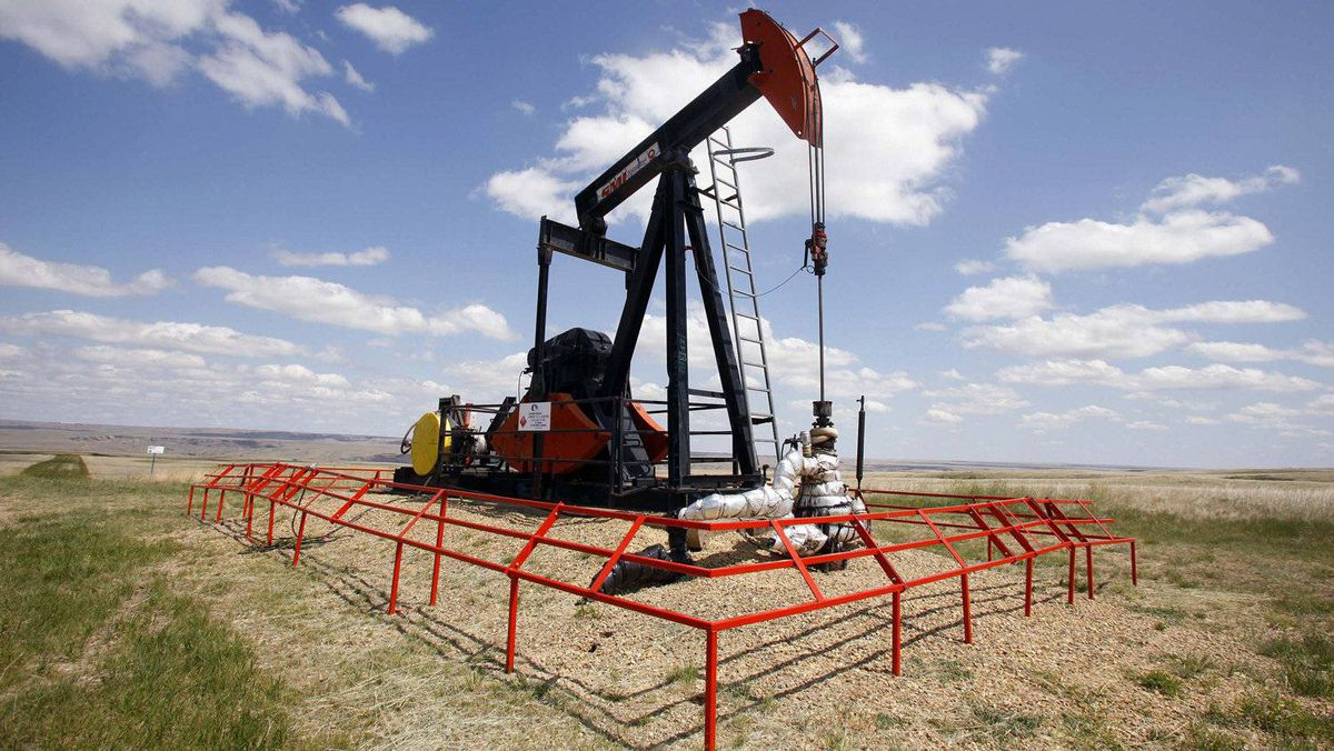 A Canadian Natural Resources pump jack in Alberta