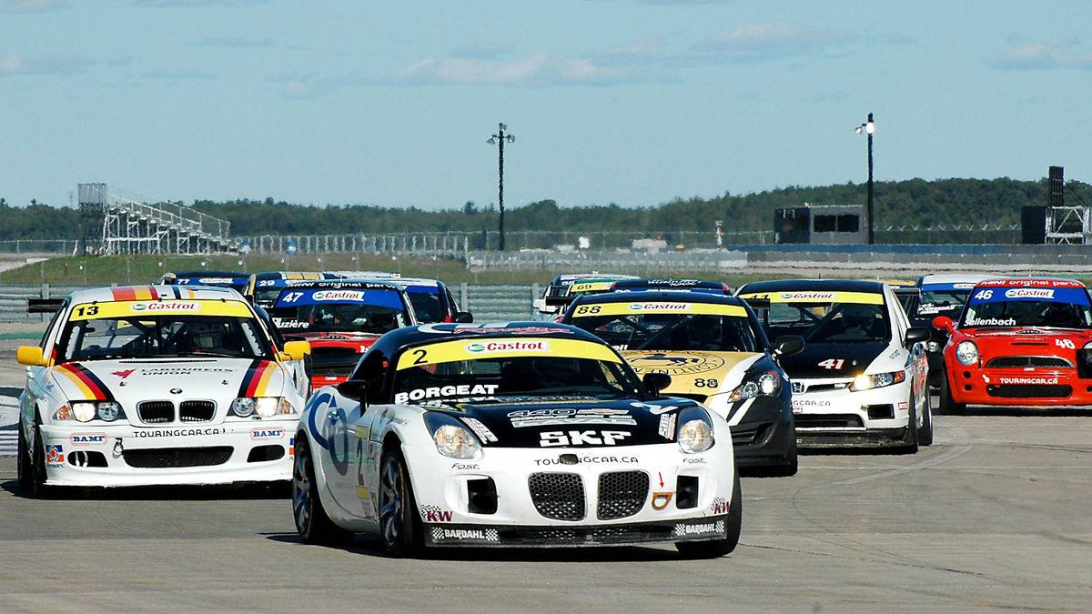 Etienne Borgeat of Montreal won the Super Canadian Touring Car Championship behind the wheel of his Pontiac Solstice.