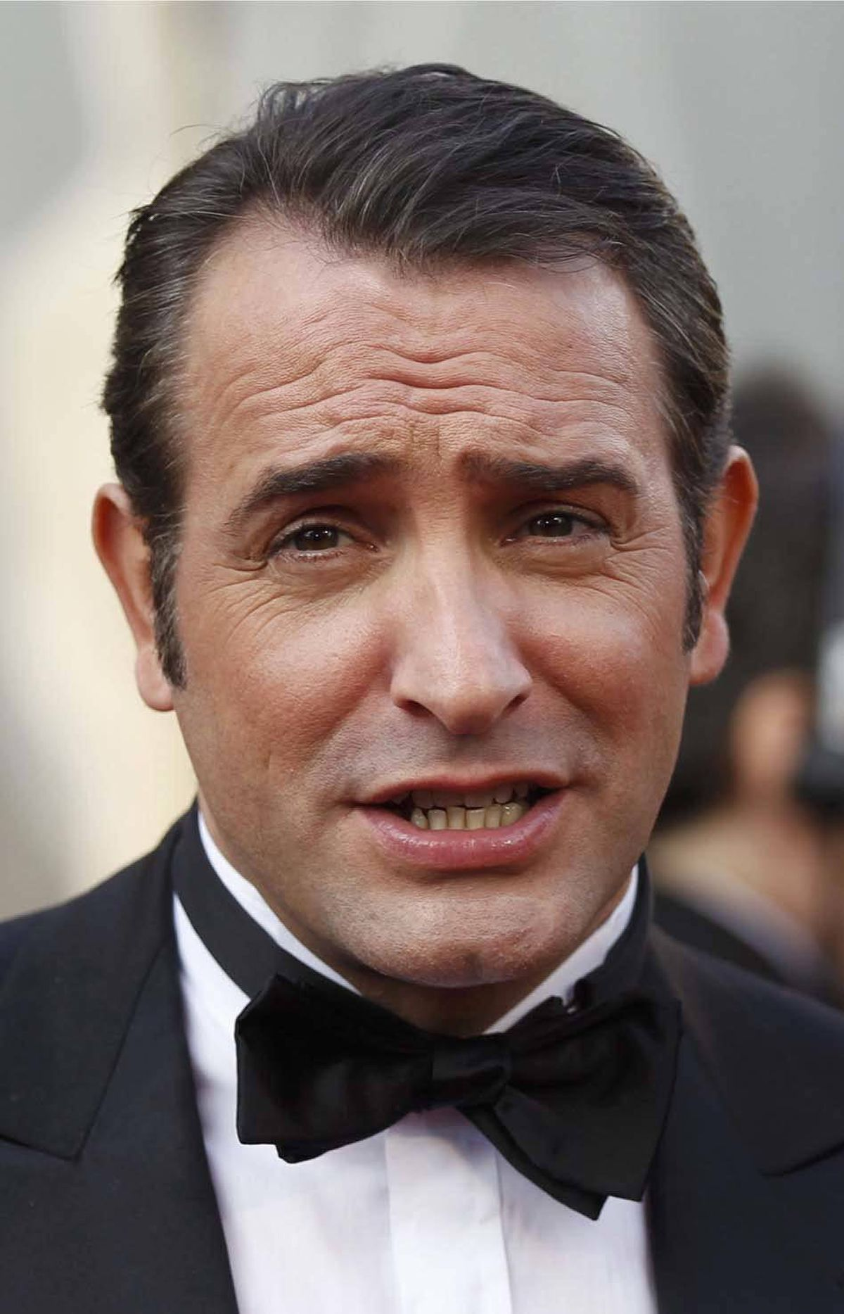 """And Jean Dujardin says """"I don't think so"""" on the Oscars red carpet Sunday."""