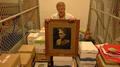 Mark Brigham found this portrait of Major Alfred Frank Mantle in a University of Regina storage room in 2010.