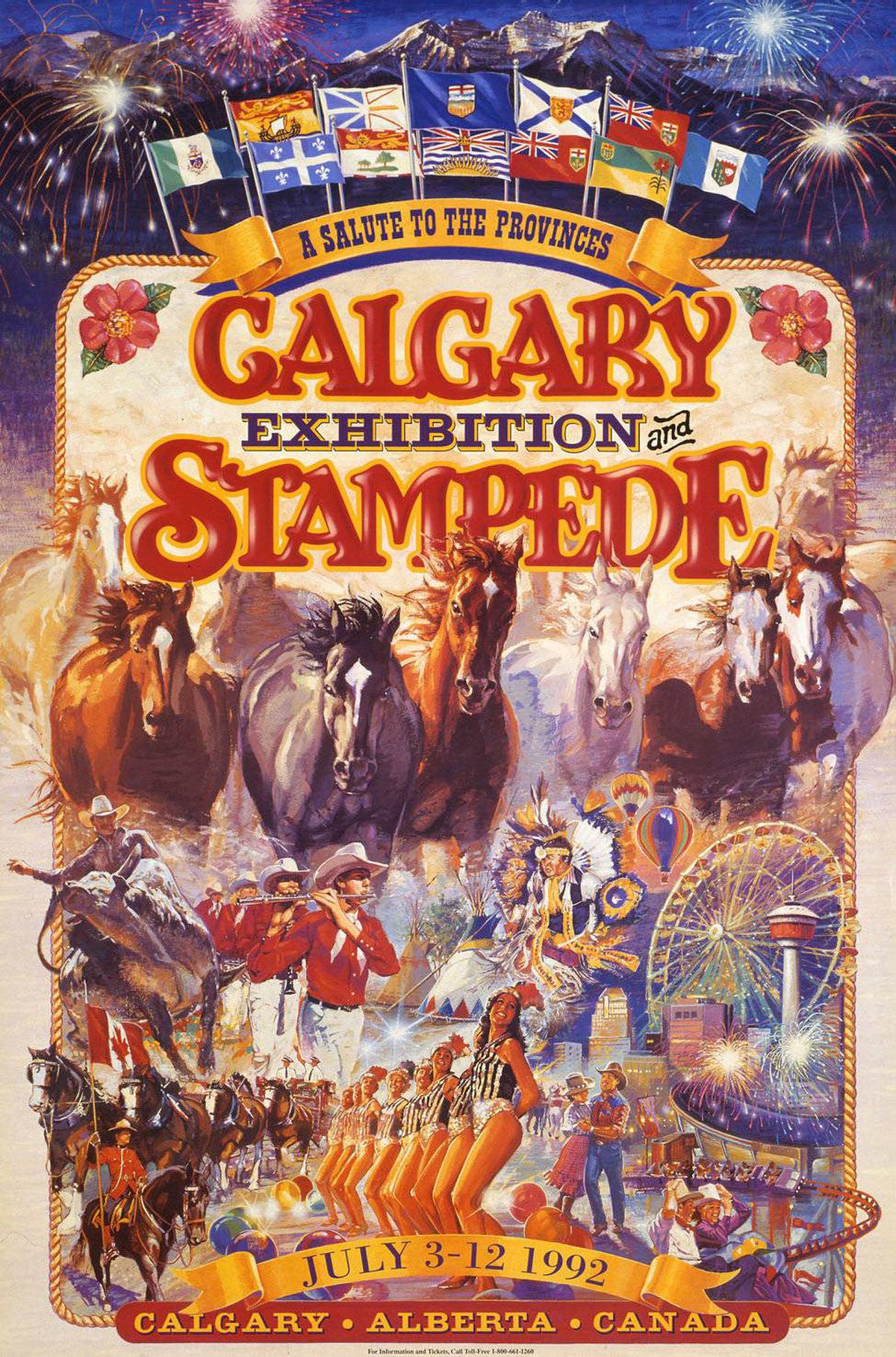 Archival images of Calgary Stampede posters over the years.