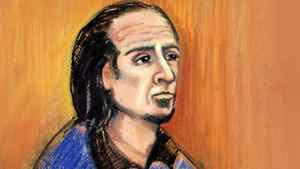Sayfildin Tahir Sharif appears in court in Edmonton on Jan. 20, 2011 in this artist's sketch. The lawyer for Sharif, a Canadian man suspected of supporting a terrorist group, says his client will fight extradition to the United States.
