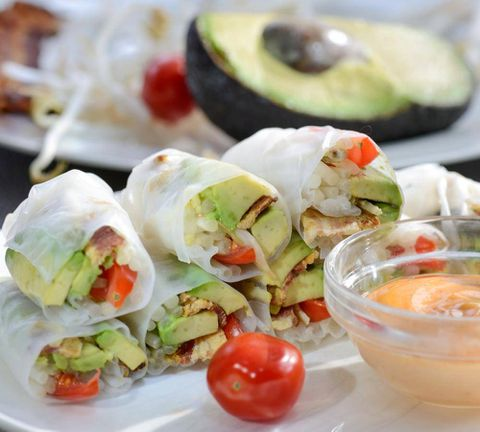 The Quick Fix: Bacon Avocado Salad Rolls