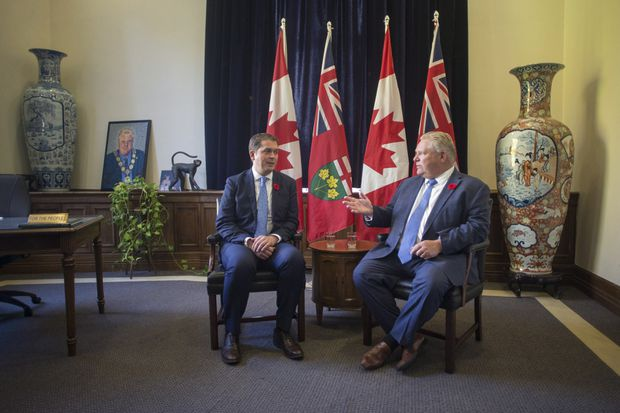 Scheer attacks Trudeau for 'demonizing' Doug Ford as post-election fallout continues