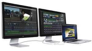 Apple's Thunderbolt Display takes its name from Intel's new input/output technology, Thunderbolt, which promises data transfer speeds up to 20 times quicker than USB 2.0.
