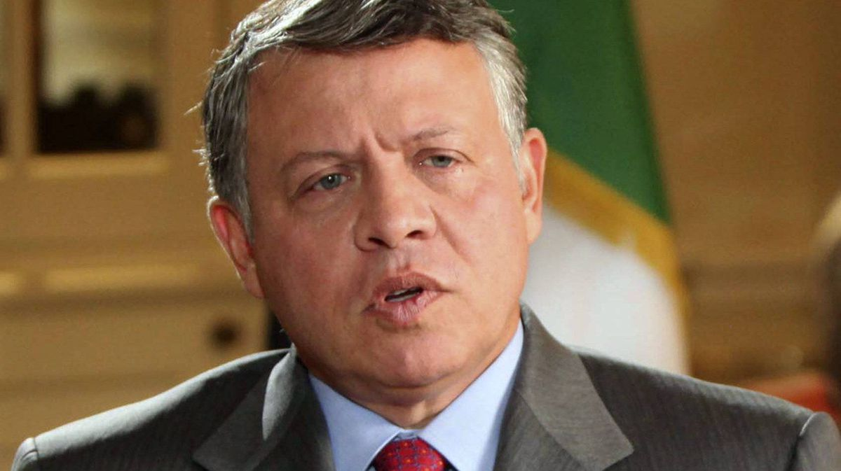 Jordan's King Abdullah is seen in an interview with the BBC in London on Nov. 14, 2011.