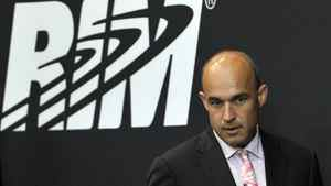 Research In Motion (RIM) Co-Chief Executive Officer Jim Balsillie arrives at the annual general meeting of shareholders in Waterloo July 12, 2011.