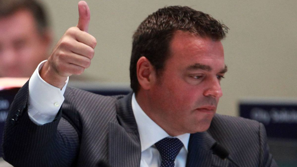 Toronto city councillor Georgio Mammoliti gives a thumbs up during a council vote. Tim Fraser for The Globe and Mail