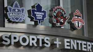 Exteriors of Air Canada Centre and the entrance to Maple Leaf Sports and Entertainment which is located there. Rogers is reported to be interested in buying MLSE and all it's holdings which include the Toronto Maple Leafs hockey team, the Toronto Raptors basketball team and Toronto FC. (Fred Lum/The Globe and Mail)