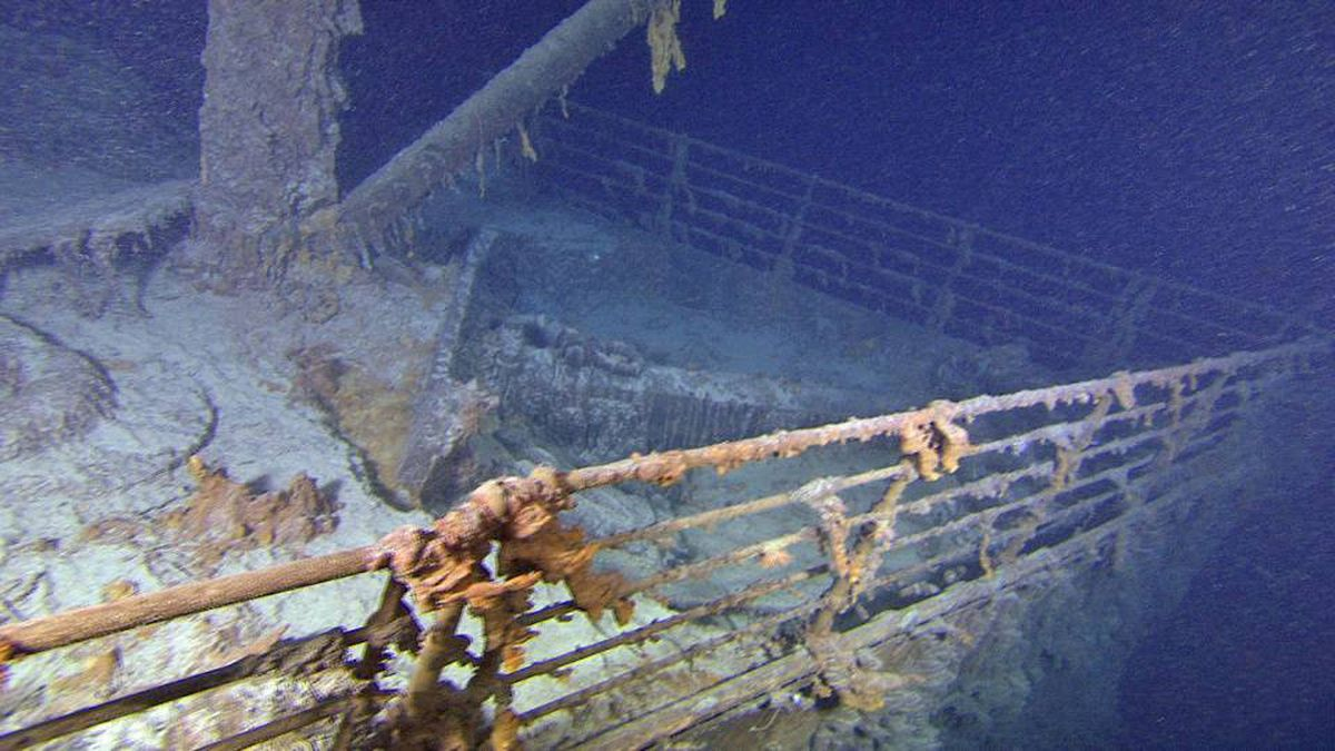 The Titanic Bow from the starboard side is shown in these handout photos taken Saturday Aug. 28, 2010. Cutting-edge and 3D technology have helped to produce this picture -- the clearest to date.