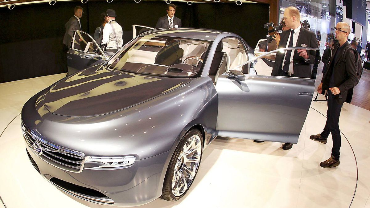 The Volvo You concept car is presented at the 64th Frankfurt Auto Show in Frankfurt, Germany, Tuesday, Sept.13,2011.