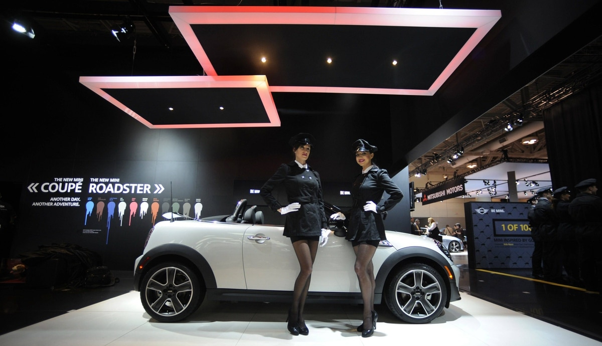 Mini Cooper on display at the media preview of the Canadian International Auto Show in Toronto.