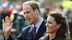 This Monday April 11, 2011 file photo shows Britain's Prince William accompanied by his fiancee Kate Middleton, as they arrive at Witton Country Park, Darwen, England.