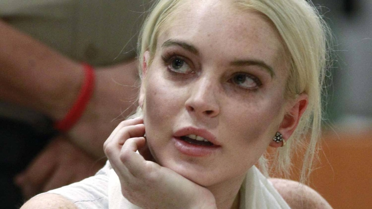 Actress Lindsay Lohan attends a progress report hearing at Airport Branch Courthouse in Los Angeles October 19, 2011.
