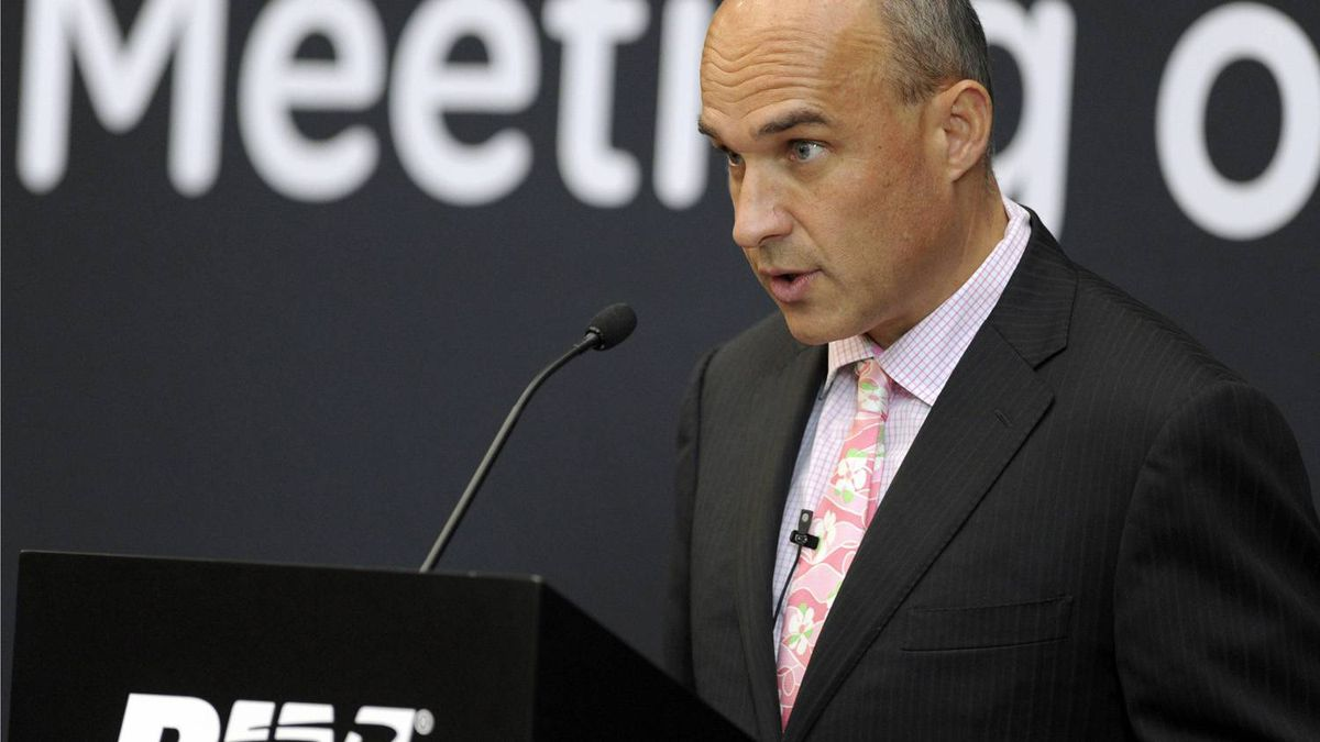 Research In Motion co-CEO Jim Balsillie speaks during the annual general meeting of shareholders in Waterloo
