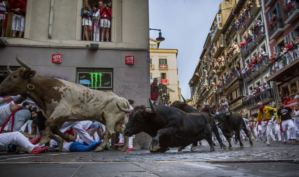 In photos: The running of the bulls in Pamplona