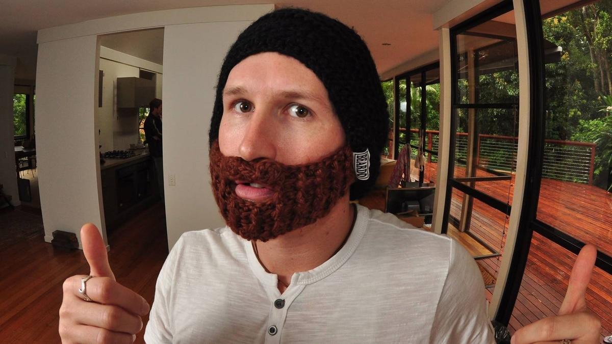 Jeff Phillips wearing a black Beardo