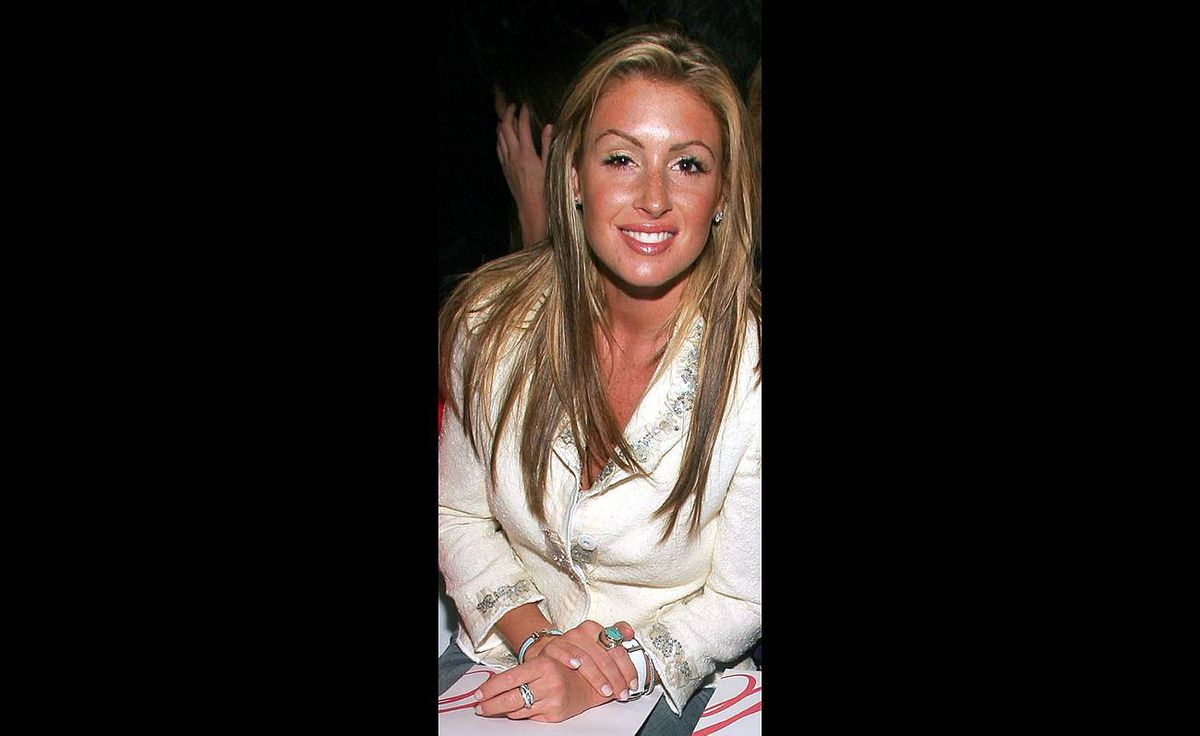 Rachel Uchitel attends the Milly By Michelle Smith Fall 2005 show during the Olympus Fashion Week in Bryant Park in New York City. Tabloids linked Ms. Uchitel to golfer Tiger Woods, but she denied the allegations.