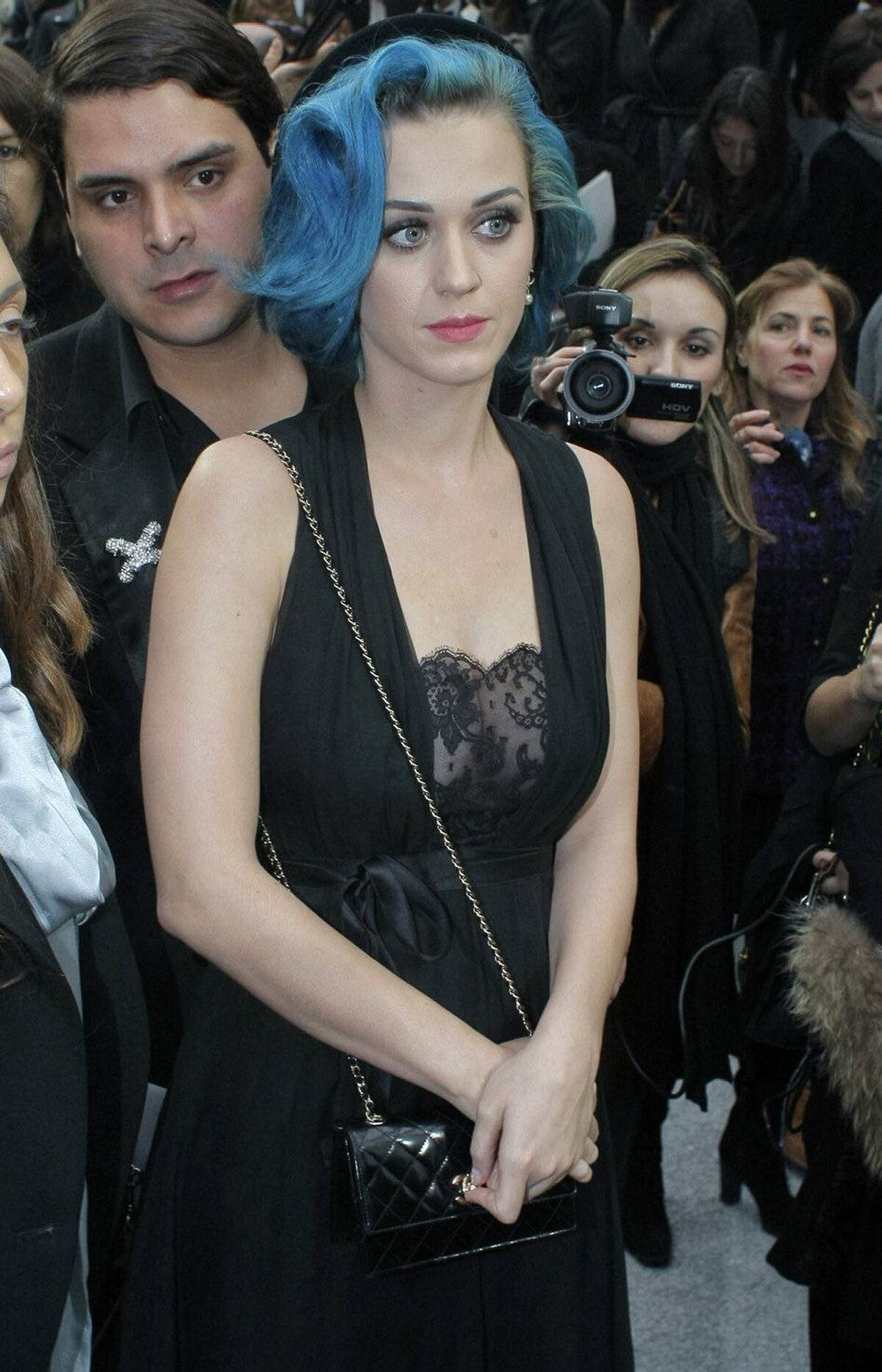 Katy Perry and her blue hair were invited along for the ride.