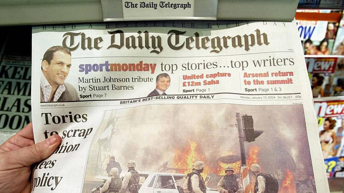 """In 1985 Hollinger bought a minority stake in London's right-wing newspaper, The Daily Telegraph. Six months after the initial investment, Mr. Black seized control of the cash-starved paper, prompting London newspaper baron Robert Maxwell to observe: """"Mr. Black landed history's largest fish with history's smallest hook."""""""